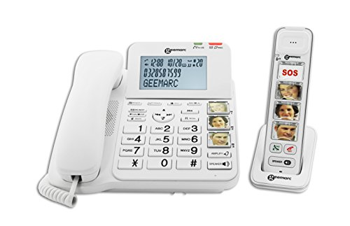 Geemarc Amplidect Combi Photo 295-Corded and Cordless Telephone with Answering Machine and Large Photo Buttons- UK Version from Geemarc Telecom