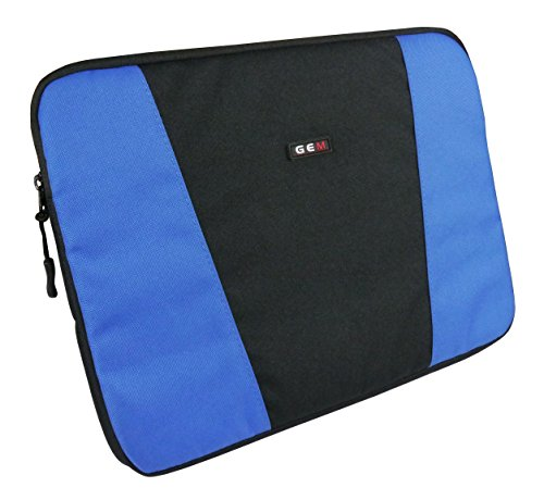 GEM Slim Protective Sleeve for Chromebooks, Netbooks and Laptops up to 13.3 inch - High Density Padding for a Slim Line Design (HP Pavilion 13-s100na x360 Laptop, Blue and Black) from Gem
