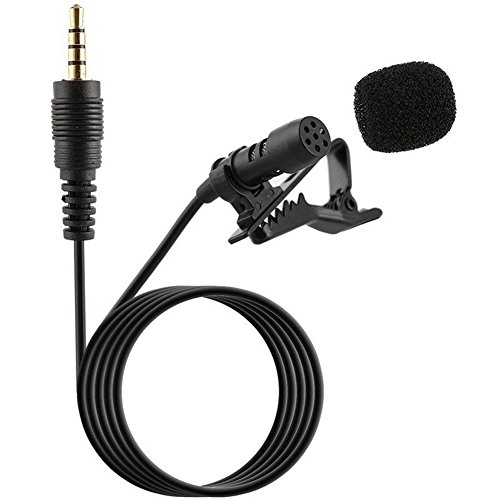 Gemini_mall® 3.5 mm Clip on Microphone Lavalier Lapel Omnidirectional Condenser Microphone for iPhone & Android Smartphones or any other mobile device (Black) from Gemini_mall