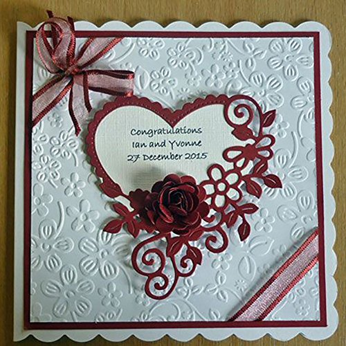 Gemini_mall® Flower Heart Metal Cutting Dies Stencils DIY Scrapbooking Album Paper Card Embossing Craft Dies (Heart Cutting Dies) from Gemini_mall