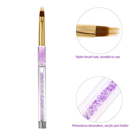 Gemini_mall® Nail Art Tips UV Gel Crystal Acrylic Painting Drawing Pen Polish Brush Pen Tool (Purple) from Gemini_mall