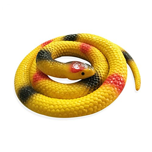 Gemini_mall® Rubber Lifelike Snakes Scary Gag Gift Incredible Creatures Chain Snakes Rain Forest Snake Toys Fake Wild Life Snakes, Random Color from Gemini_mall