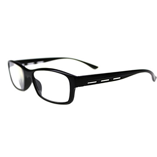 Gemini_mall® Spring Hinges Vintage Rectangular Reading Glasses Men Women Reader, 1.00, 1.50, 2.00, 2.50, 3.00, 3.50, 4.00 (+2.50, Black) from Gemini_mall