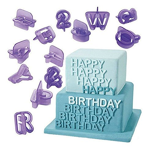 Gemini_mall® Fondant Alphabet Cutters for Cake Decorating - 40 Pcs - Cake Letter Cutters - Icing Cutout Decorating Set from Gemini_mall
