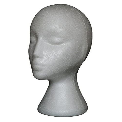 Gemini_mall® Styrofoam Foam Mannequin Female Head Model Dummy Wig Glasses Hat Display Stand from Gemini_mall