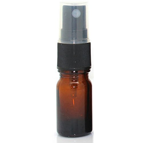 Gemini_mall 20ML Amber Glass Spray Bottle with Black ATOMISER Sprays,Refillable Container for Essential Oil/Aromatherapy Use from Gemini_mall