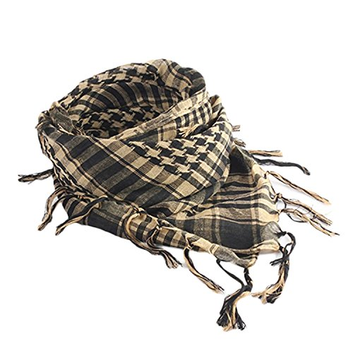 Gemini_mall Unisex Scarf Cotton Military Style Tactical Desert Shemagh Beige from Gemini_mall