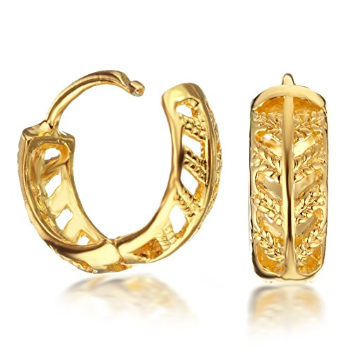 Gemini Women's Jewelry Yellow Gold Filled Huggie Small Hoop CZ Diamonds Earrings Valentine's Day Gifts Gm075 from Gemini