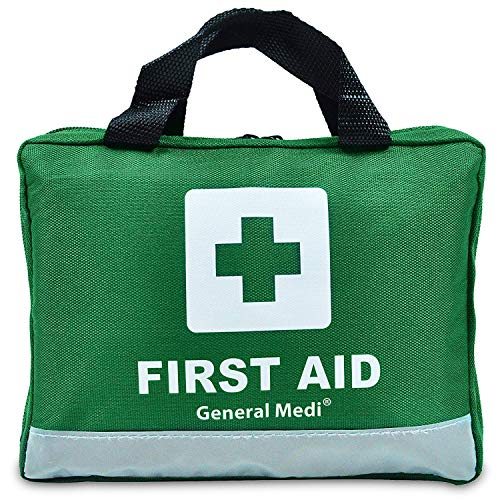 210 Piece First Aid Kit- Emergency kit - Reflective Design - Includes Eyewash, Ice(Cold) Pack,Moleskin Pad,CPR Face Mask and Emergency Blanket for Travel, Home, Office, Car, Camping, Workplace& Outdoor from General Medi