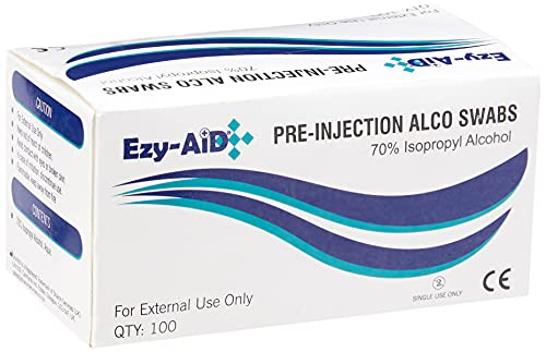 Generic 100 Pre Injection Skin Cleansing wipes Swabs from Generic