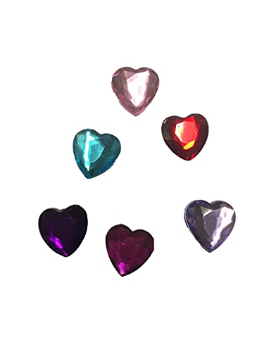 6 Gem Heart Shoe Charms For Crocs & Jibbitz Wristbands from Generic