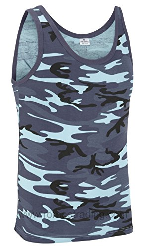 Camouflage Military Vest Top - Midnight Camouflage (L) from Unknown