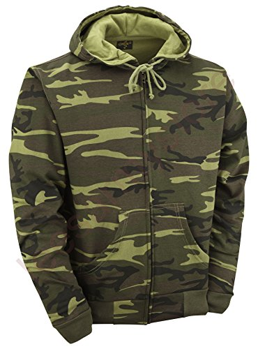 Camouflage Zipped Hoodie - Woodland Camo (XL) from Unknown