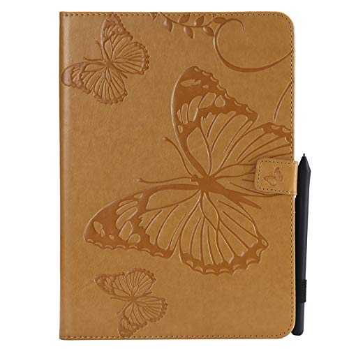 JIan Ying Case Universal for Apple iPad Air, iPad Air 2, iPad 9.7 (2017)/(2018) Patterns Tablet Shell Cover Protector Yellow butterfly from Generic