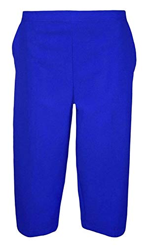 Ladies Half Elastic Polyester Bistretch Pocket Capri Crop 3/4 Trousers from Generic