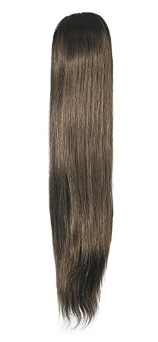 Love Hair Extensions Silky Sue Crocodile Clip Synthetic Hair Ponytail Colour 4 Chestnut Brown 20 -inch from Unknown