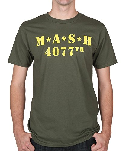 Mash Logo 4077th Military Green T-Shirt Tee Large [Apparel] from Generic