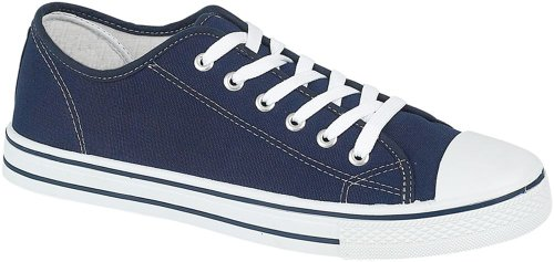 Generic Mens Canvas Baseball Shoes in 4 Colours, Navy, 10 UK from Generic