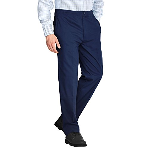 "Mens Rugby Trousers Full Elasticated Waist Office Work Smart Big Plus Size Pants[Navy Blue,38"" Waist 29"" Leg] from Generic"