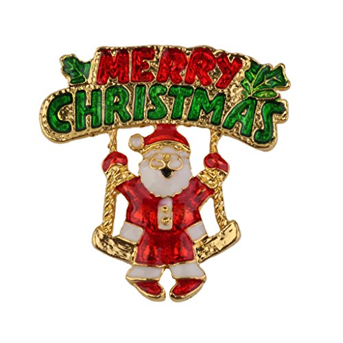 Merry Christmas Santa Claus Brooch Pin Xmas Party Gift Decoration Colorful from Generic