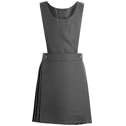 NEW KIDS GIRLS UNIFORM PLEATED PINAFORE BIB DRESS SCHOOL UNIFORM AGES 3-10 YEARS[Grey ,11-12 Year] from Generic