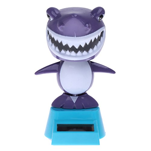 MagiDeal Solar Powered Dancing Flip Flap Car Home Dancer Bobble Toy Shark from MagiDeal