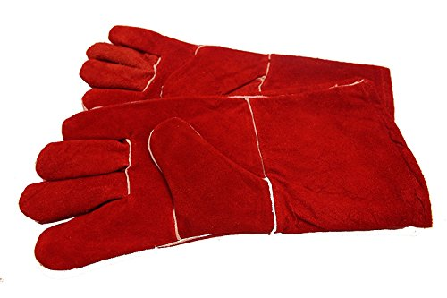 WOODBURNER GLOVES HIGH TEMPERATURE STOVE LONG LINED WELDERS GAUNTLETS LOG FIRE from Generic