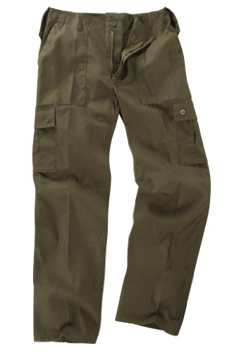 Youths/Kids Military Combat Cargo Trousers - Olive (3-4 Years, Olive) from Unknown