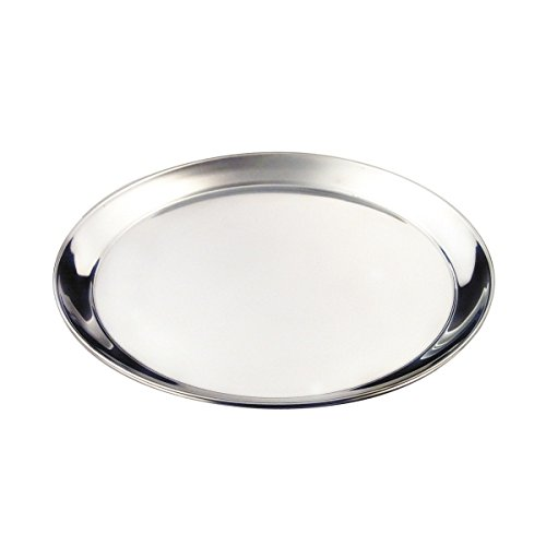 "Genware NEV-52139 Round Tray, Stainless Steel, 14"", 350 mm from Genware"