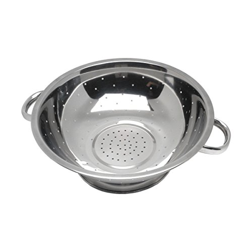 "Genware NEV-666 Economy Colander Tube Handle, Stainless Steel, 16"" from Genware"