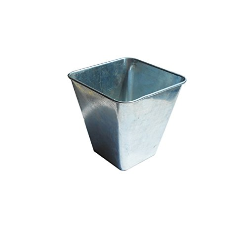 Genware NEV-GFSQ10 Galvanised Steel Flared Serving Tub, 10 cm x 10 cm x 10 cm from Genware