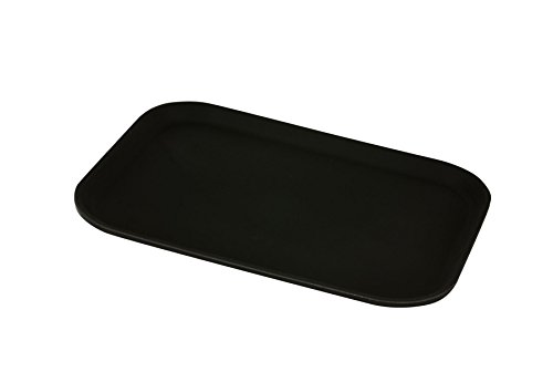 "Genware NEV-GG1216BLK Gen-Grip Tray, Non-Slip, Rectangular, 12"" x 16"", Black from Genware"