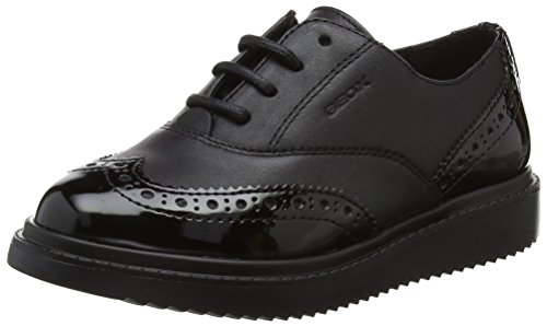 Geox Girls' J Thymar E Oxfords, Black, 1.5|#Adult UK Girlsuk Child from Geox