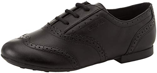 Geox Girls' Jr Plie' E Oxfords, (Black C9999), 13 UK Child from Geox