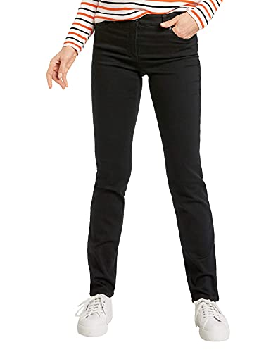 GERRY WEBER Edition Women's Straight Jeans, Black (Black Black Denim 12800), Size 10/L30 (Manufacturer size: 36S) from Gerry Weber Edition