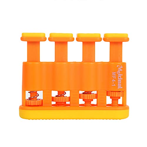 Finger Trainer Exerciser Hand Strengthener Tool for Guitar Bass Ukulele Piano - Orange Adult Geshiglobal from Geshiglobal