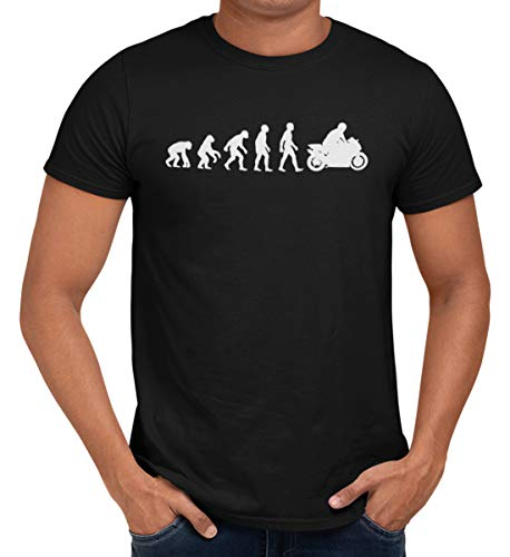 Getting Shirty Motorbike (Bike, Biker) Evolution Men's / Unisex T-Shirt (XXX-Large) from Getting Shirty