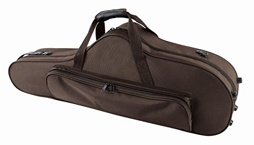 "GEWA 708355 ""form-Shaped"" Compact Series Tenor Saxophone Case - Black Velour/Brown from PURE GEWA"