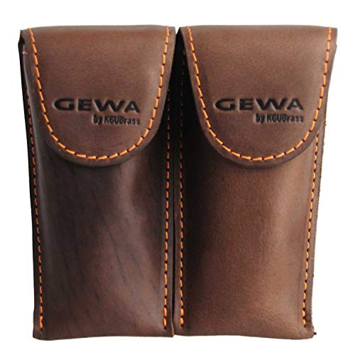 Mouthpiece pouch Crazy Horse Trumpet brown for 2 mouthpieces from PURE GEWA