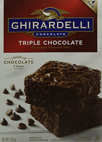 Ghirardelli Chocolate Triple Chocolate Brownie Mix 2.26kg from Ghirardelli