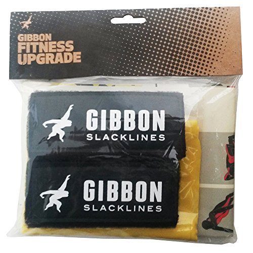 Gibbon Slacklines fitness upgrade including Strechtband, 2 handles and a fitness poster with 16 fitness exercises/training schedule from Gibbon Slacklines