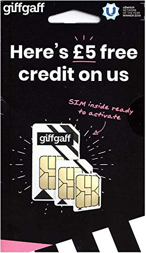 Giffgaff O2 4G Multi Sim Card For GPS Tracking Tracker PAYG GPRS APN - UNLIMITED CALLS, TEXTS & DATA - get £5 BONUS CALL CREDIT with your first Top up! Fits all devices - Including Iphone 4, 4S, 5, 5S, 5C, 6, 6S, 6+,7 / GALAXY S2/S3/S4/S5/S6/S6-Edge/S7 iPad 2,3,4,5, Air/Air 2 from Giffgaff