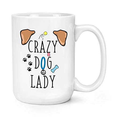 Crazy Dog Lady Brown Ears 15oz Large Mug Cup from Gift Base