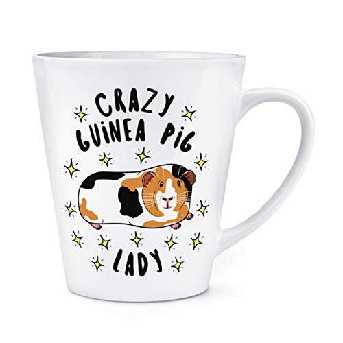 Crazy Guinea Pig Lady Stars 12oz Latte Mug Cup from Gift Base