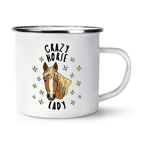 Crazy Horse Lady Stars Retro Enamel Mug Cup from Gift Base