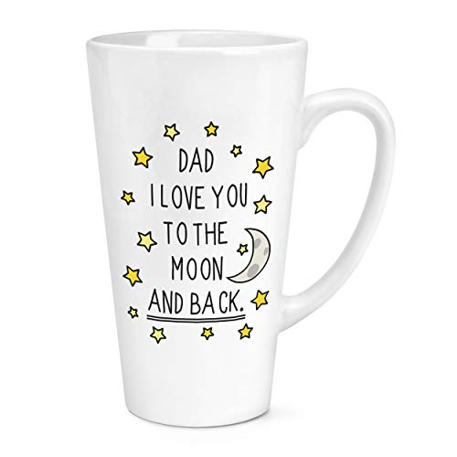 Dad I Love You to The Moon and Back 17oz Large Latte Mug Cup from Gift Base