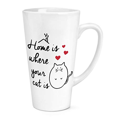 Home is Where Your Cat is 17oz Large Latte Mug Cup from Gift Base