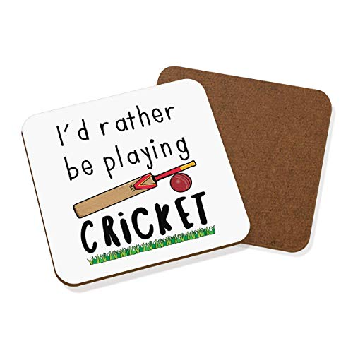 Gift Base I'd Rather Be Playing Cricket Coaster Drinks Mat from Gift Base