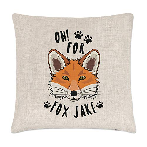 Gift Base Oh For Fox Sake Linen Cushion Cover from Gift Base
