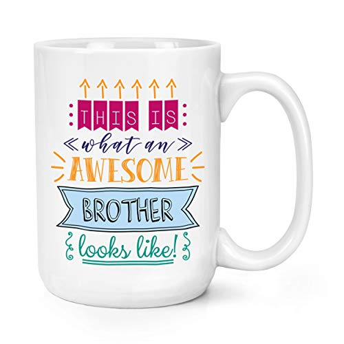 This is What an Awesome Brother Looks Like 15oz Large Mug Cup from Gift Base